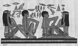 Reflexology Explained. Ancient Egypt photo